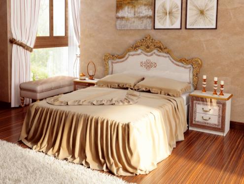 Кровать двуспальная Дженнифер 160  Миромарк