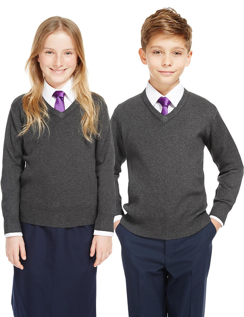 Школьный джемпер серый на мальчика 10-11-12-13-14 лет George (Aнглия)