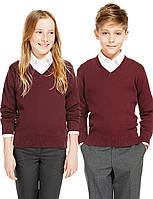 Школьный джемпер бордовый для девочки 5-6-7-8-9-10 лет George (Aнглия), фото 1