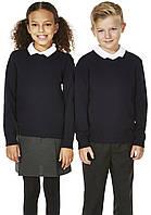 Классический темно-синий школьный джемпер для девочки Хлопок 100% George (Aнглия)