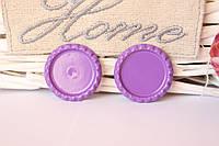 Крышечки (серединки) для бантика (заколки) фиолетового цвета оптом, фото 1