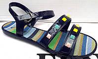 Босоножки женские силиконовые Erra синие Er0006