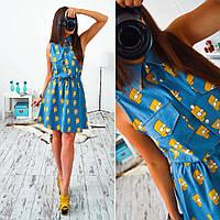 Джинсовое платье 33005