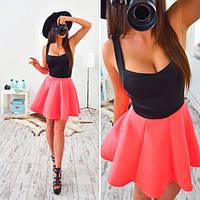Платье женское 33015 Платье с неопреновой юбочкой