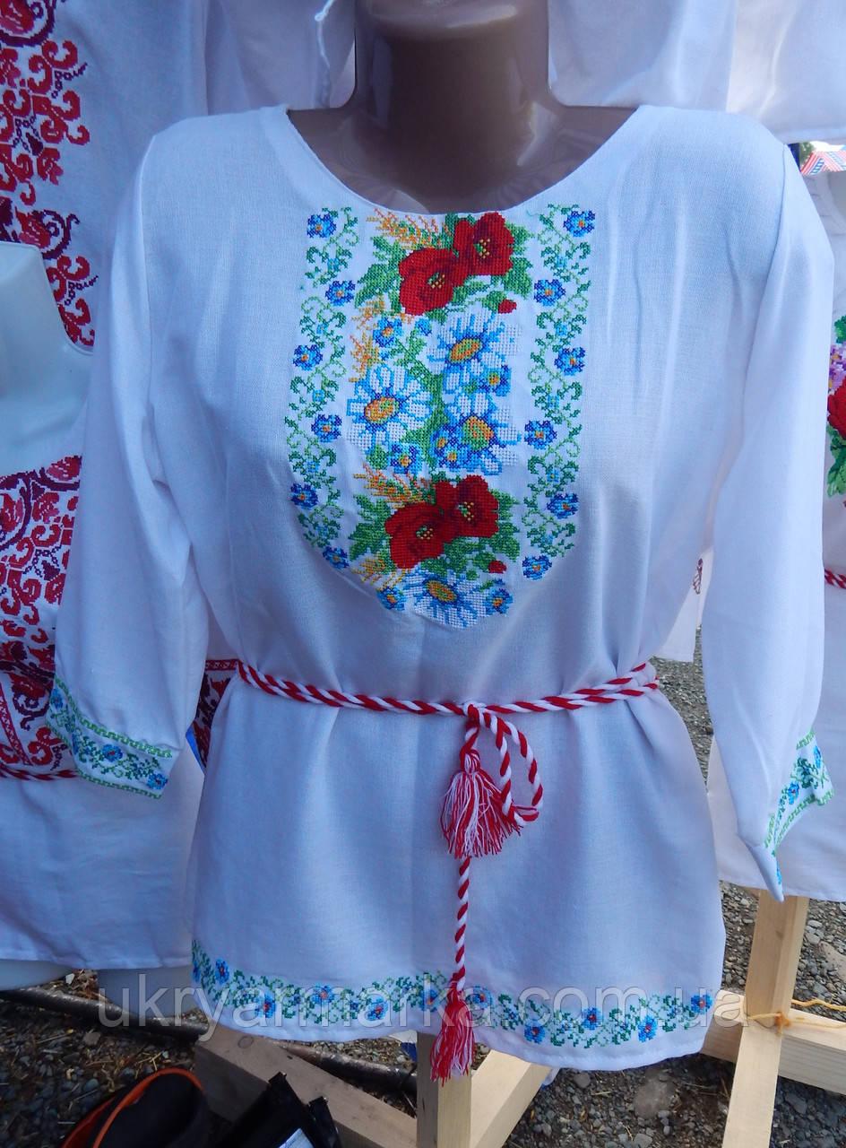 """Жіноча вишита блузка """"Польовий букет"""""""