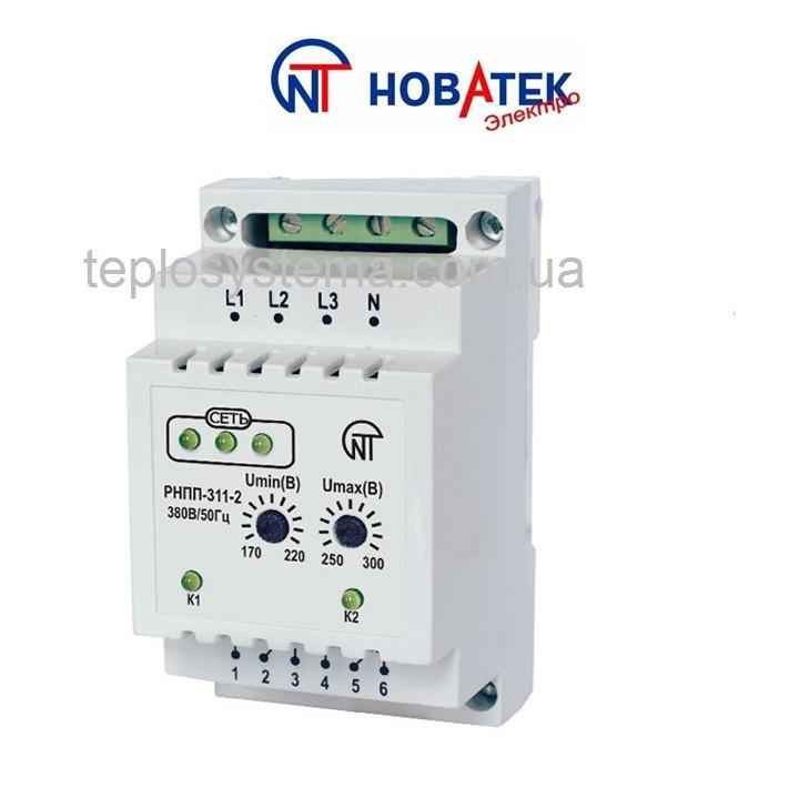 Трехфазное реле напряжения, перекоса и последовательности фаз  РНПП - 311-2 Новатек Электро (Украина)