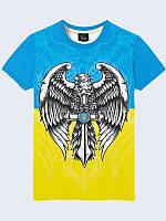 Футболка мужская 3D Орел Украина