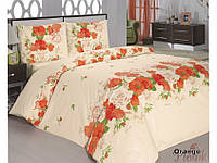 Комплект постельного белья двуспальный 175х210 Classi Flora оранжевый