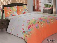 Комплект постельного белья двуспальный 175х210 Classi Gardenia оранжевый