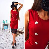 Платье женское 33065 Платье-футляр с кружевом