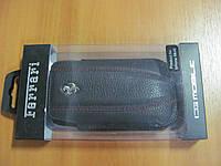 Чехол-карман CG Mobile Ferrari Leather Sleeve Case Challenge Black for iPhone 4/4S (FECHIPBL), фото 1