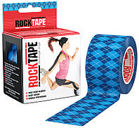 RockTape Кинезио тейп RockTape Designe 5см х 5м (blue argyle)
