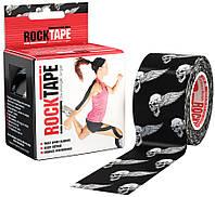 RockTape Кинезио тейп RockTape Designe 5см х 5м (black skull)