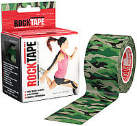 RockTape Кинезио тейп RockTape Designe 5см х 5м (green camouflage)