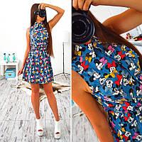 Платье женское 33068 Платье джинсовое с Микки