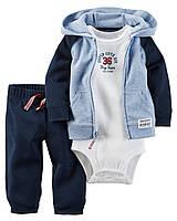Боди + Штаны + Кофта Carters на новорожденного до 55 см. Спортивный костюм из 3-х частей