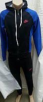 Подростковые костюмы Найк юниоры с синими рукавами , фото 1