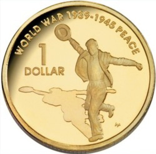 Монеты - доллар Австралия 2005 г.  $1 UNCIRCULATED - юбилейная - Зарубежная Марка Одесса в Одессе