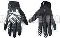 Мотоперчатки ,кроссовые, вело рукавиці, закрытые FOХ AIRLINE (р-р M-XL) (белый-серый-черный)