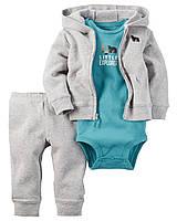 Боди + Штаны + Кофта Carters на новорожденного до 55 см. Спортивный костюм из 3-х частей Carters