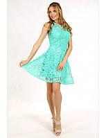 Коктейльное платье мини из гипюра, р. 34, 36, 38, 40, 4 цвета