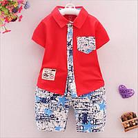 Комплект детские шорты и рубашка для мальчика