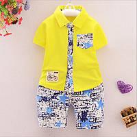 Комплект детские рубашка и шорты для мальчика