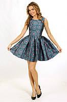 Коктейльное платье мини в ромашку, р. 34, 36, 38, 2 цвета