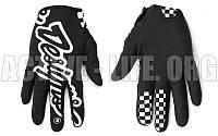 Мотоперчатки ,кроссовые, вело рукавиці, закрытые Troy Lee Designs (р-р M-XL) ( белый-черный)