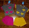 """Детский костюм """"Сердечки"""" полосатая футболка+шорты, фото 4"""
