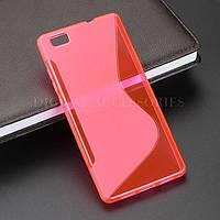Силиконовый чехол Duotone для Huawei P8 розовый