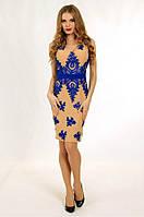 Элегантное коктейльное платье с вышивкой на сетке