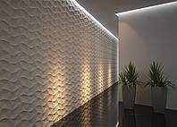3d панели из гипса Оригами 500х500х30мм