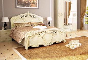 Кровать двуспальная Олимпия 160  с каркасом Миромарк