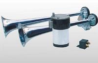 Воздушный сигнал SL-A1018С , двойной, с компрессором, хромированный