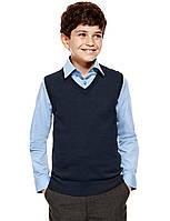 Безрукавка темно-синяя школьная на мальчика Хлопок 100% George (Англия)