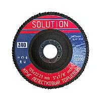 """Круг лепестковый шлифовальный торцевой 125х22 """"Solution"""" zirconium р40 Т27 (прямой профиль)"""