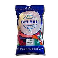 """Воздушные шары Belbal пастель 12""""(30 см) ассорти 50 шт"""