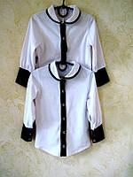 Блузка школьная из вискозы. р.р.28-40.