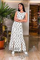 Легкое повседневное платье в пол с 4-мю разрезами.