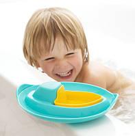 """Кораблик для ванны и пляжа """"SLOOPI"""" (цвет зеленый+желтый)"""