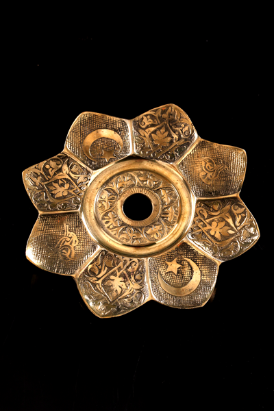 Блюдце Kaya Oriental Star Ash plate Brass, латунь