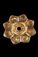Блюдце Kaya Oriental Star Ash plate Brass, латунь, фото 1