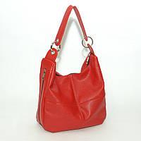 Женская кожаная сумка. Модель 14 красный флотар