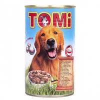 Консерва для собак TOMi 5 ВИДОВ МЯСА (5 kinds of meat), банка , 1,2кг.
