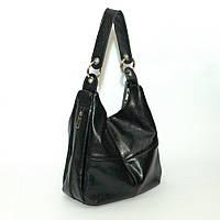 Женская кожаная сумка на одну ручку. Модель 14 черный флотар