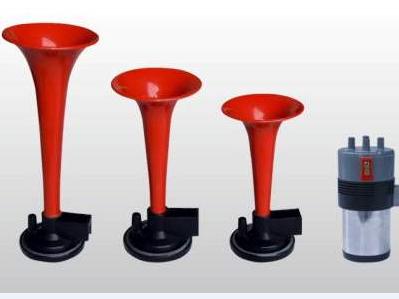 Воздушный сигнал SL-A1015R, тройной, с компрессором, красный