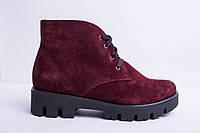 Ботинки из натуральной замши №35-2, фото 1