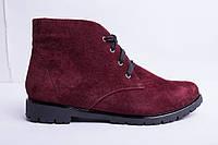 Ботинки из натуральной замши №35-6, фото 1