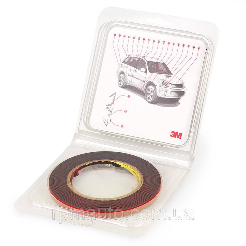 Скотч двосторонній в блістерній упаковці PT1100 3М 1,1 мм 6мм х 5м Клейка Спінена Акрилова Стрічка VHB